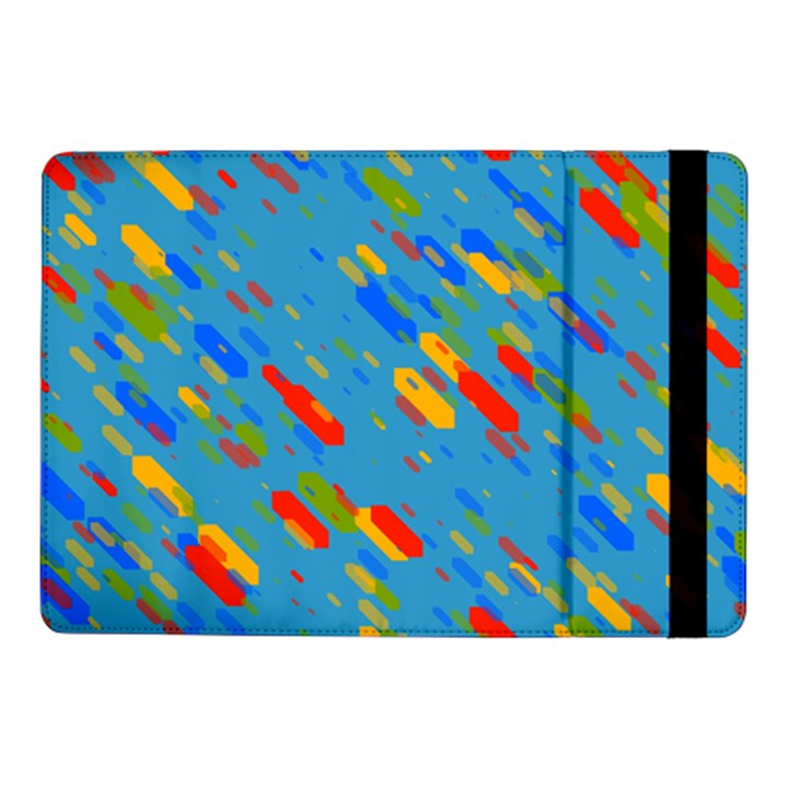 Colorful shapes on a blue background Samsung Galaxy Tab Pro 10.1  Flip Case
