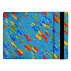 Colorful Shapes On A Blue Background Samsung Galaxy Tab Pro 12 2  Flip Case