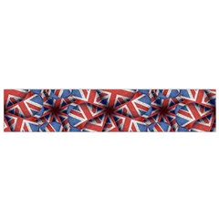 Heart Shaped England Flag Pattern Design Flano Scarf (small)