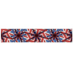 Heart Shaped England Flag Pattern Design Flano Scarf (Large)