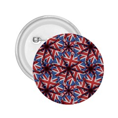 Heart Shaped England Flag Pattern Design 2 25  Button