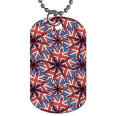 Heart Shaped England Flag Pattern Design Dog Tag (two Sided)