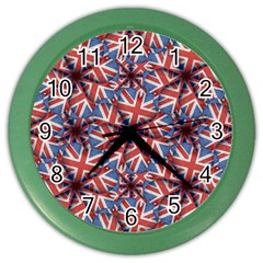 Heart Shaped England Flag Pattern Design Wall Clock (color)