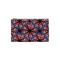 Heart Shaped England Flag Pattern Design Cosmetic Bag (small)