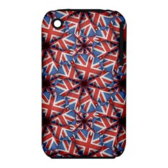 Heart Shaped England Flag Pattern Design Apple iPhone 3G/3GS Hardshell Case (PC+Silicone)