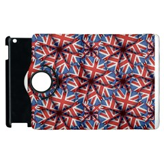 Heart Shaped England Flag Pattern Design Apple iPad 2 Flip 360 Case