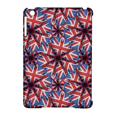 Heart Shaped England Flag Pattern Design Apple Ipad Mini Hardshell Case (compatible With Smart Cover)