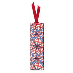 Heart Shaped England Flag Pattern Design Small Bookmark