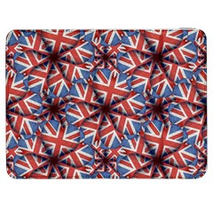 Heart Shaped England Flag Pattern Design Samsung Galaxy Tab 7  P1000 Flip Case