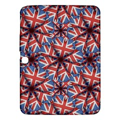 Heart Shaped England Flag Pattern Design Samsung Galaxy Tab 3 (10 1 ) P5200 Hardshell Case