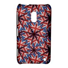 Heart Shaped England Flag Pattern Design Nokia Lumia 620 Hardshell Case