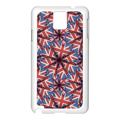 Heart Shaped England Flag Pattern Design Samsung Galaxy Note 3 N9005 Case (white)