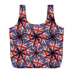 Heart Shaped England Flag Pattern Design Reusable Bag (L)