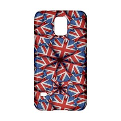 Heart Shaped England Flag Pattern Design Samsung Galaxy S5 Hardshell Case