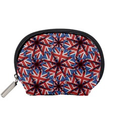 Heart Shaped England Flag Pattern Design Accessory Pouch (Small)