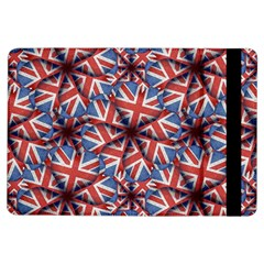 Heart Shaped England Flag Pattern Design Apple iPad Air Flip Case