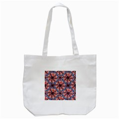 Heart Shaped England Flag Pattern Design Tote Bag (White)