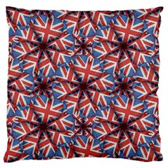 Heart Shaped England Flag Pattern Design Large Flano Cushion Case (One Side)