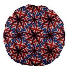 Heart Shaped England Flag Pattern Design 18  Premium Flano Round Cushion