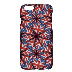 Heart Shaped England Flag Pattern Design Apple iPhone 6 Plus Hardshell Case