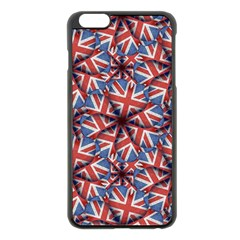 Heart Shaped England Flag Pattern Design Apple iPhone 6 Plus Black Enamel Case