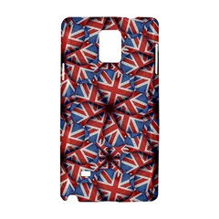 Heart Shaped England Flag Pattern Design Samsung Galaxy Note 4 Hardshell Case