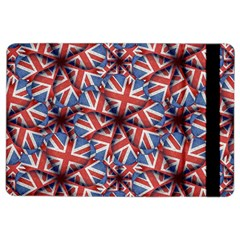 Heart Shaped England Flag Pattern Design Apple iPad Air 2 Flip Case