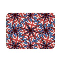 Heart Shaped England Flag Pattern Design Double Sided Flano Blanket (mini)