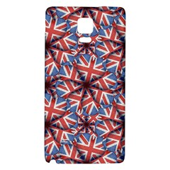 Heart Shaped England Flag Pattern Design Samsung Note 4 Hardshell Back Case