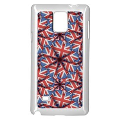 Heart Shaped England Flag Pattern Design Samsung Galaxy Note 4 Case (White)