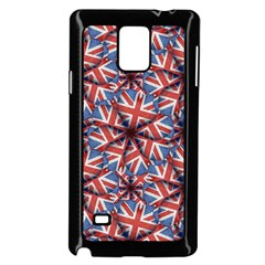 Heart Shaped England Flag Pattern Design Samsung Galaxy Note 4 Case (Black)