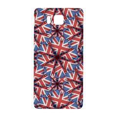 Heart Shaped England Flag Pattern Design Samsung Galaxy Alpha Hardshell Back Case