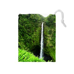Akaka Falls Drawstring Pouch (Medium)
