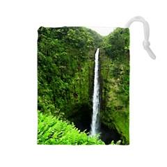 Akaka Falls Drawstring Pouch (large)