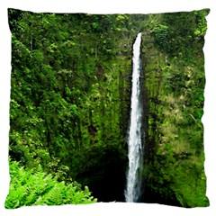 Akaka Falls Large Flano Cushion Case (two Sides)