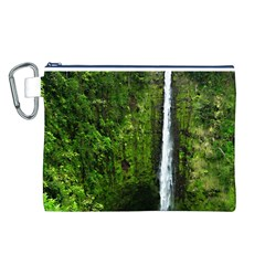 Akaka Falls Canvas Cosmetic Bag (Large)