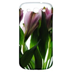 Pink Flowers On White Samsung Galaxy S3 S Iii Classic Hardshell Back Case