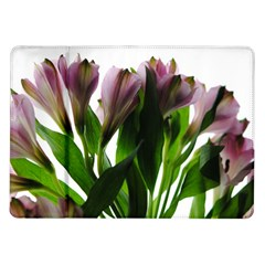 Pink Flowers on White Samsung Galaxy Tab 10.1  P7500 Flip Case