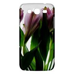 Pink Flowers On White Samsung Galaxy Mega 5 8 I9152 Hardshell Case