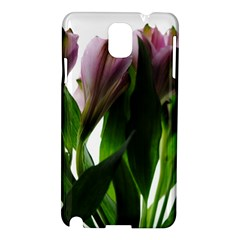 Pink Flowers On White Samsung Galaxy Note 3 N9005 Hardshell Case