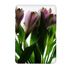 Pink Flowers on White Samsung Galaxy Tab 2 (10.1 ) P5100 Hardshell Case