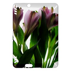 Pink Flowers on White Kindle Fire HDX Hardshell Case