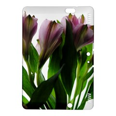 Pink Flowers on White Kindle Fire HDX 8.9  Hardshell Case