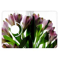 Pink Flowers On White Kindle Fire Hdx Flip 360 Case