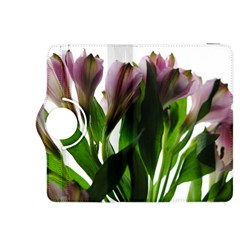 Pink Flowers on White Kindle Fire HDX 8.9  Flip 360 Case