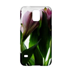 Pink Flowers on White Samsung Galaxy S5 Hardshell Case