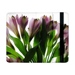 Pink Flowers On White Samsung Galaxy Tab Pro 8 4  Flip Case