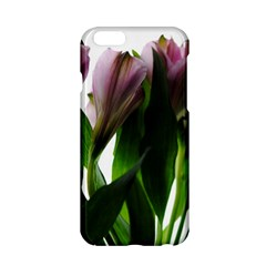 Pink Flowers On White Apple Iphone 6 Hardshell Case