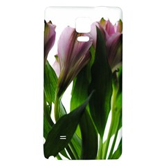 Pink Flowers on White Samsung Note 4 Hardshell Back Case