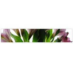 Pink Flowers on White Flano Scarf (Large)